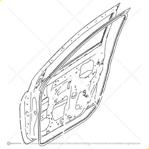 karosszéria / ajtók és tartozékai / Suzuki Celerio bal első ajtó (Suzuki-Maruti alkatrész), cikkszám: M68002-84M00