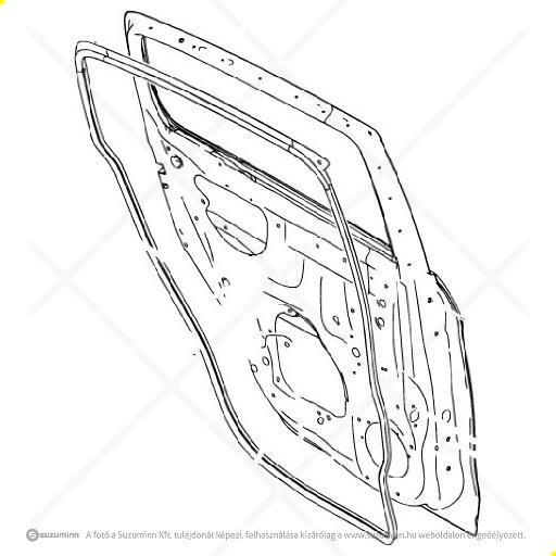 karosszéria / ajtók és tartozékai / Suzuki Celerio bal hátsó ajtó