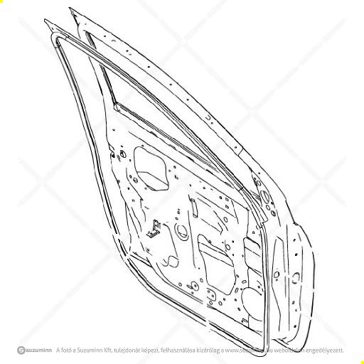 karosszéria / ajtók és tartozékai / Suzuki Celerio jobb első ajtó (Suzuki-Maruti alkatrész), cikkszám: M68001-84M00