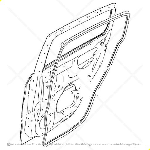 karosszéria / ajtók és tartozékai / Suzuki Celerio jobb hátsó ajtó (Suzuki-Maruti alkatrész), cikkszám: M68003-84M20