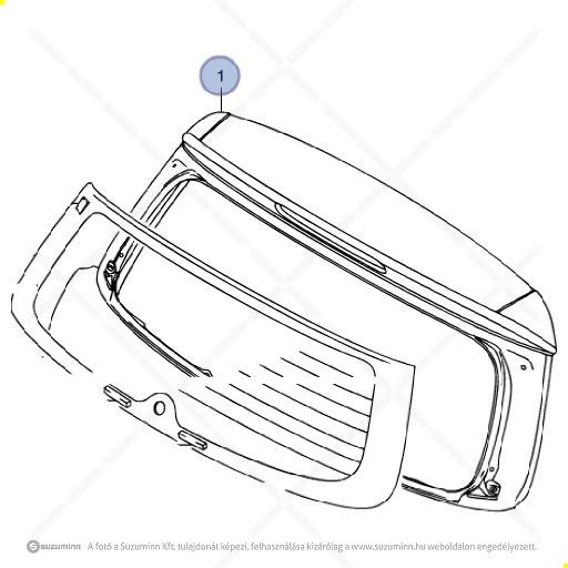 karosszéria / csomagtérajtó és részei / Suzui Swift csomagtérajtó