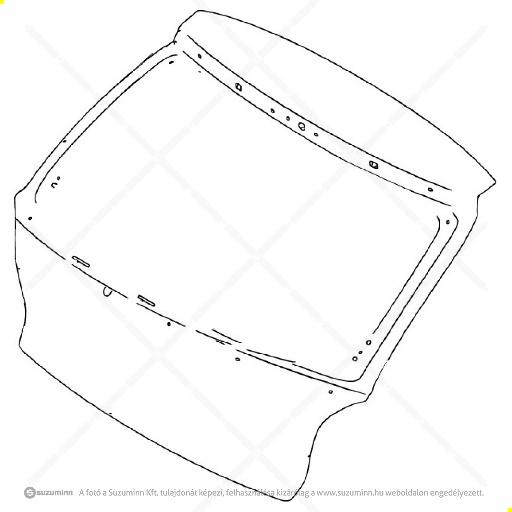 karosszéria / csomagtérajtó és részei / Suzuki Baleno 2015- csomagtér ajtó (Suzuki-Maruti alkatrész), cikkszám: 69100M68P60