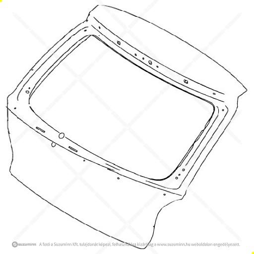karosszéria / csomagtérajtó és részei / Suzuki Baleno 2015-csomagtér ajtó (Suzuki-Maruti alkatrész), cikkszám: 69100M68P20