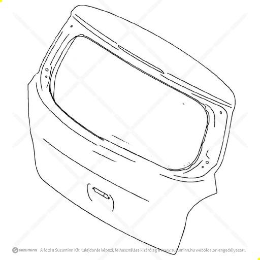 karosszéria / csomagtérajtó és részei / Suzuki Celerio csomagtér ajto (Suzuki-Maruti alkatrész), cikkszám: M69100-84M00