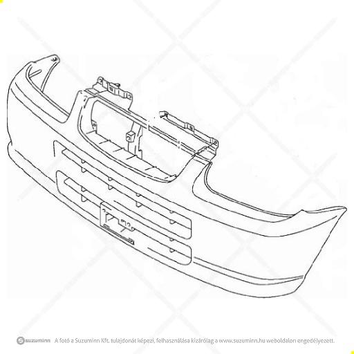 karosszéria / első lökhárító és részei / Suzuki Alto első lökhárító (Suzuki-Maruti alkatrész), cikkszám: M71711M79G00-5PK