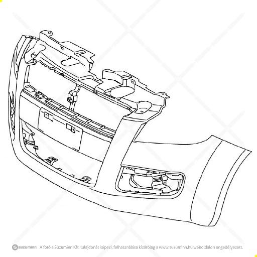 karosszéria / első lökhárító és részei / Suzuki Splash type1 első lökhárító