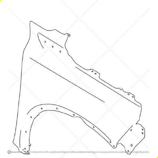karosszéria / első sárvédő / Suzuki Vitara jobb első sárvédő