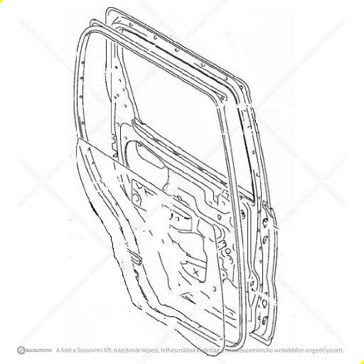 karosszéria / ajtók és tartozékai / Suzuki Ignis bal hátsó ajtó gyári (gyári, eredeti alkatrész), cikkszám: 68004-86G00