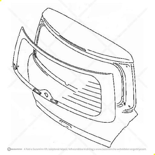 karosszéria / csomagtérajtó és részei / Suzuki Swift csomagtér ajtó (gyári, eredeti alkatrész), cikkszám: 69100-63J23