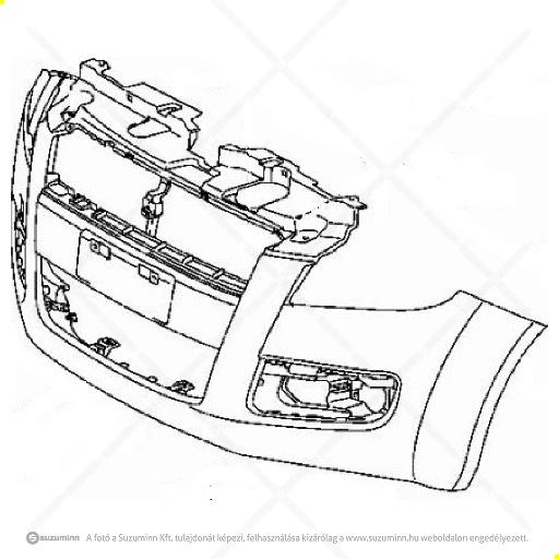karosszéria / első lökhárító és részei / Suzuki Splash type1 első lökhárító (gyári, eredeti alkatrész), cikkszám: 71711-51K00-799