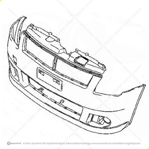 karosszéria / első lökhárító és részei / Suzuki Swift lökhárító gyári (gyári, eredeti alkatrész), cikkszám: 71711-62J00-799