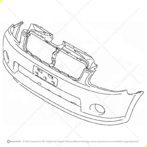 karosszéria / első lökhárító és részei / Suzuki Wagon R+ lökhárító gyári (gyári, eredeti alkatrész), cikkszám: 71711-84E21-5PK